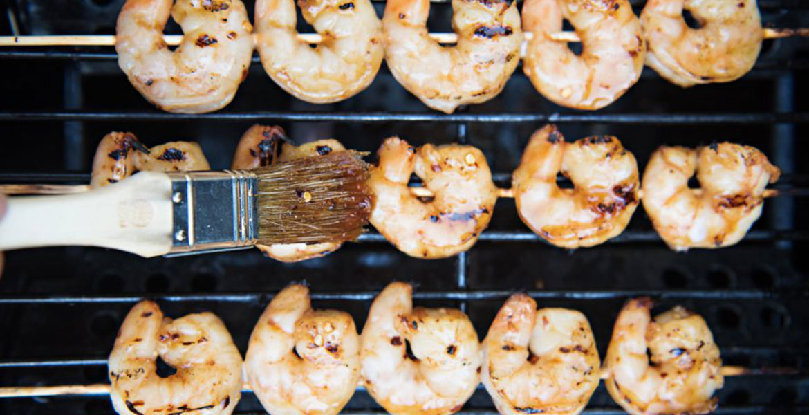 Fortune Imports | Honey Garlic Shrimp Skewers